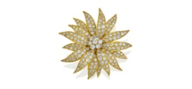 18ct gold and diamond 'Grande Marguerite' brooch, Van Cleef & Arpels, circa 1960