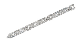 Platinum and diamond bracelet, Cartier, circa 1925