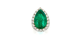 Platinum, gold, emerald and diamond ring, Van Cleef & Arpels, circa 1974