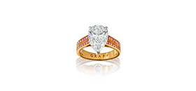 18ct rose gold, platinum, diamond and fancy pink intense diamond ring, Graff