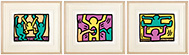 KEITH HARING 1958-1990 Pop Shop I (Three Plates) (L. pp. 82-83), 1987